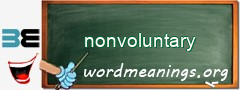 WordMeaning blackboard for nonvoluntary